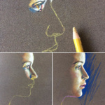 pastelportret, portrait in pastel, illustration, how to draw